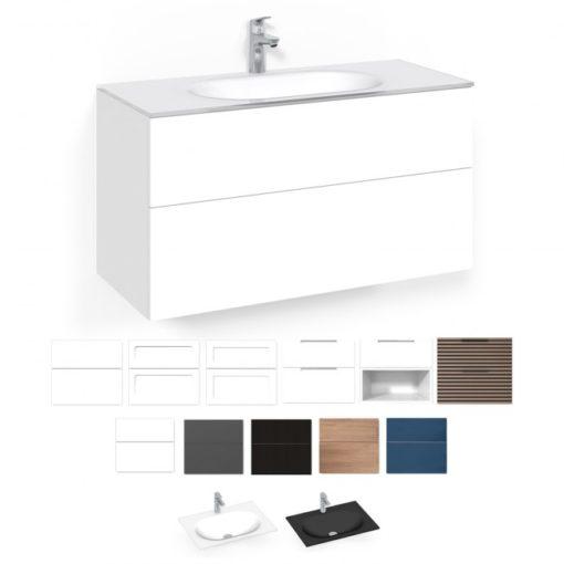 Tvättställsskåp Macro Design Crown 100 cm Lådfront Push-open