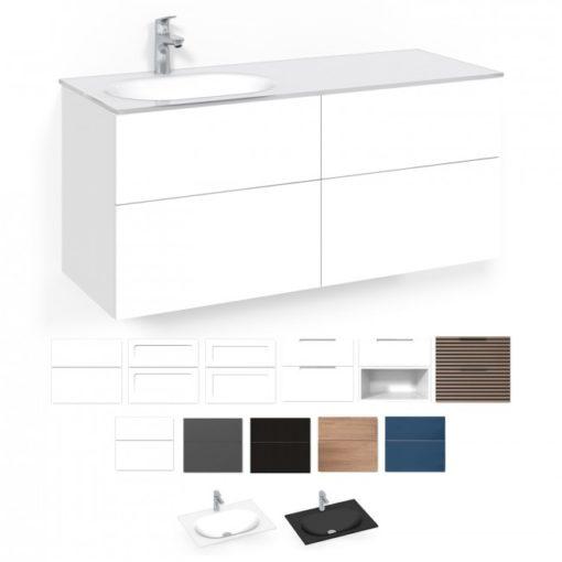 Tvättställsskåp Macro Design Crown 120 cm Lådfront Push-open