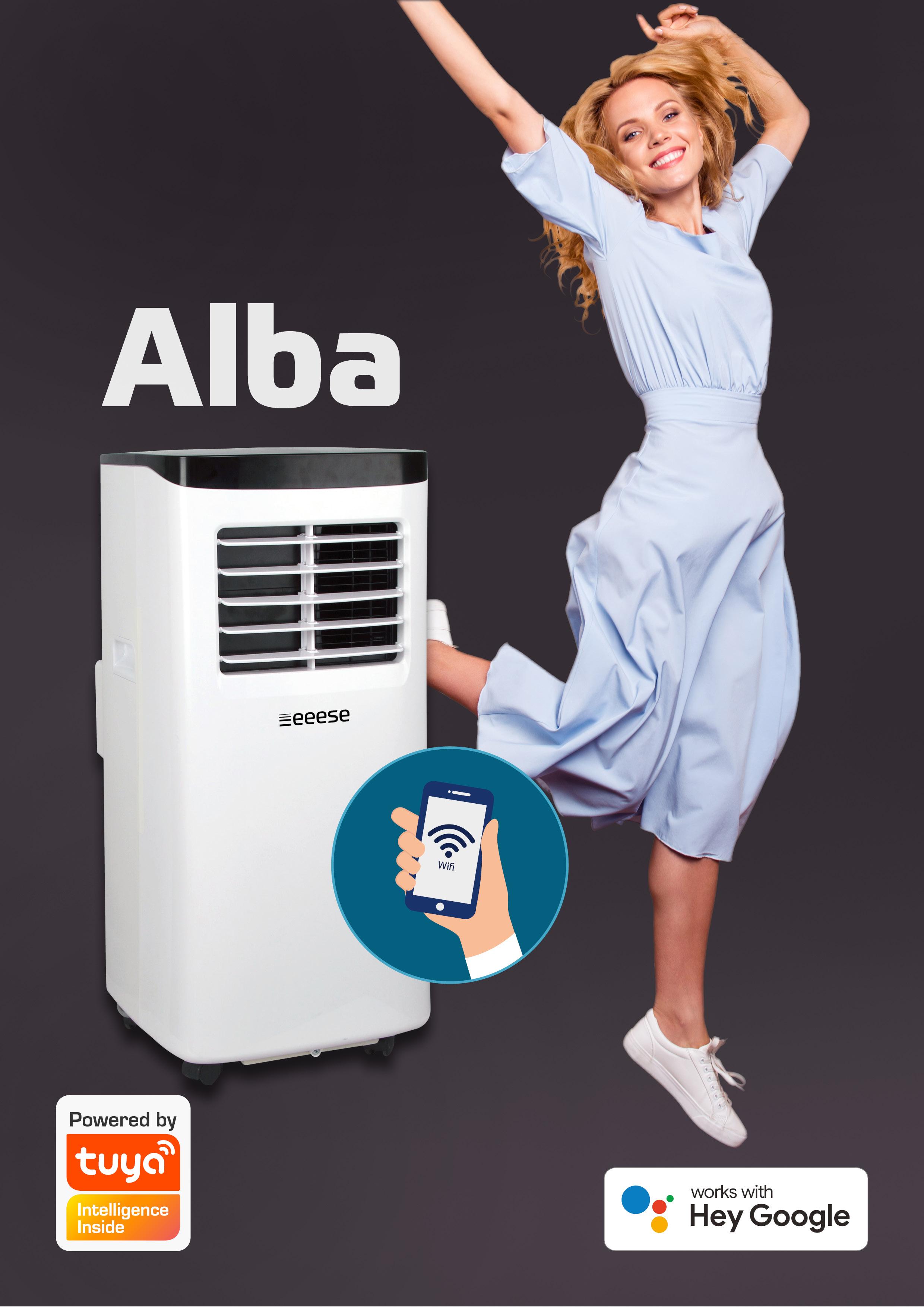 Alba 2-i-1 luftkonditionering och avfuktare – 20 m2 - Wifi, Google Assistant eeese