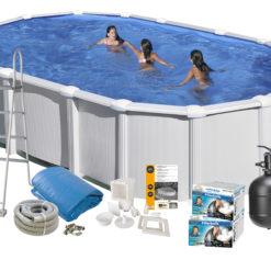 Pool Basic 132 730x375 cm White Swim & Fun