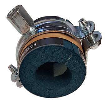 Kombipack, distansskål och klammer med kombimutter M8/M10, 35-38mm rör