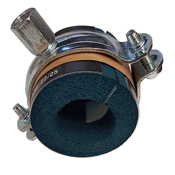 Kombipack, distansskål och klammer med kombimutter M8/M10, för rör 22-25mm