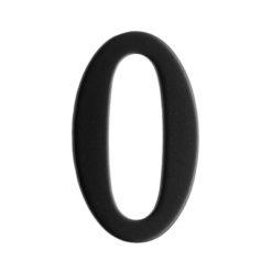 Brevlådesiffra Svart Siffra 0 Beslagsboden