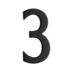 Brevlådesiffra Svart Siffra 3 Beslagsboden