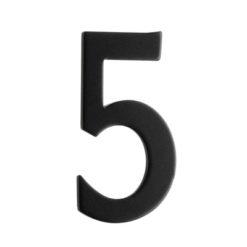Brevlådesiffra Svart Siffra 5 Beslagsboden