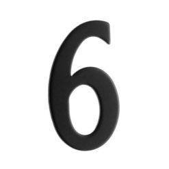 Brevlådesiffra Svart Siffra 6 Beslagsboden