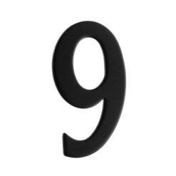 Brevlådesiffra Svart Siffra 9 Beslagsboden