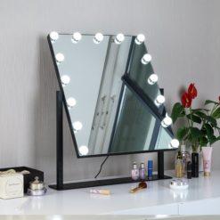 Sminkspegel Hollywood 15-lampor QBad