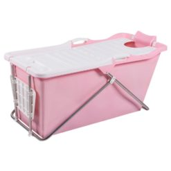 rosa badkar ihopvikbart vikbar badbalja