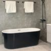 svart badkar fristående