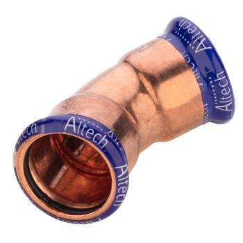 Kopparpress 22 mm 45° 2 Muff Altech Press M-profil