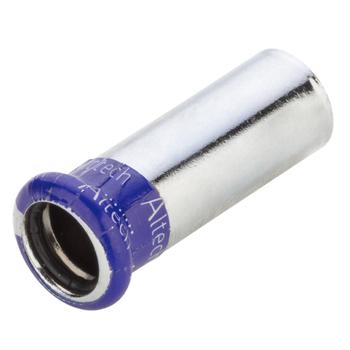 Kopparpress Förkromad 15x12 mm Förminskning Slätända/Muff Altech Press M-profil