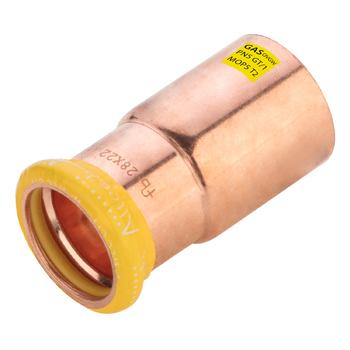 Kopparpress Gas 22x15 mm Förminskning Slätända/Muff Altech Press M-profil