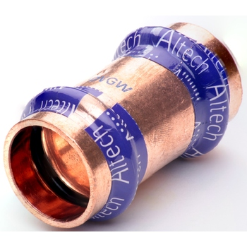 Kopparpress 22 mm Dubbelmuff Altech Press V-profil