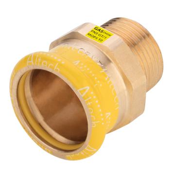 Kopparpress Gas 15xR15 Övergångskoppling Muff/Utvändig Gänga Altech Press M-profil