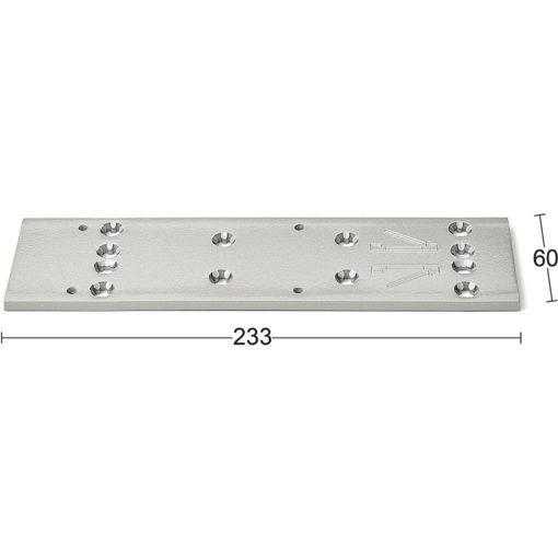 Montageplatta 7380 Silver Habo