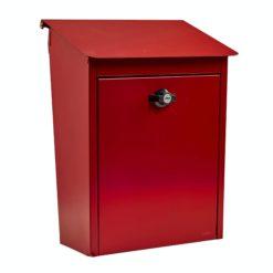 Postlåda 9441B Låsbar Röd Habo