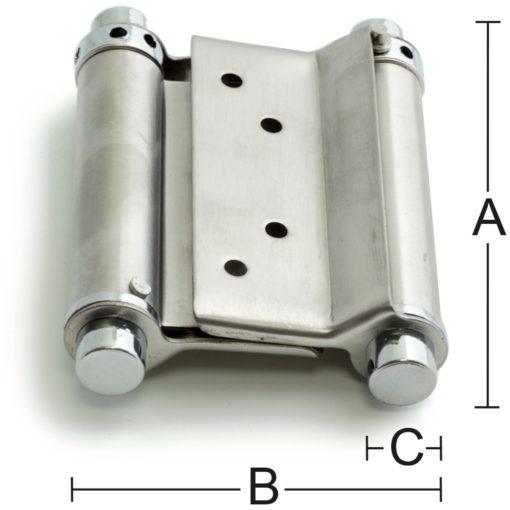 Svängdörrsgångjärn 10 150 mm SB Habo
