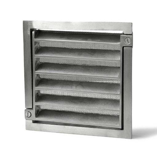 Ventilgaller 1117 150x150mm Alum Habo