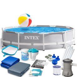 Pool Intex 26702 Grå 305×76 cm Med 15 Delar