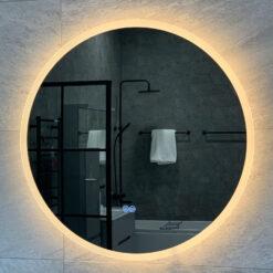 rund spegel 70 cm 90 cm belysningfalsterbo qbad