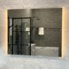 spegel 100 cm med belysning qbad aspon