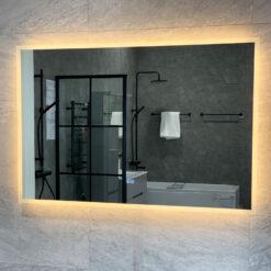 spegel 120 cm med belysning qbad moja