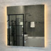 spegel med belyning 80 cm qbad aspön