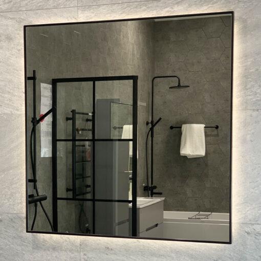 spegel 80 cm svart duvholmen