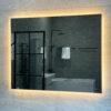 spegel med belysning 100 cm qbad moja