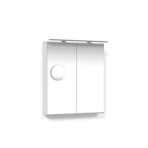 Spegelskåp 60 Vit Belysningsram Förstoringsspegel Macro Design