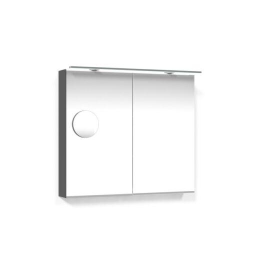 Spegelskåp 80 Antracitgrå Belysningsram Förstoringsspegel Macro Design