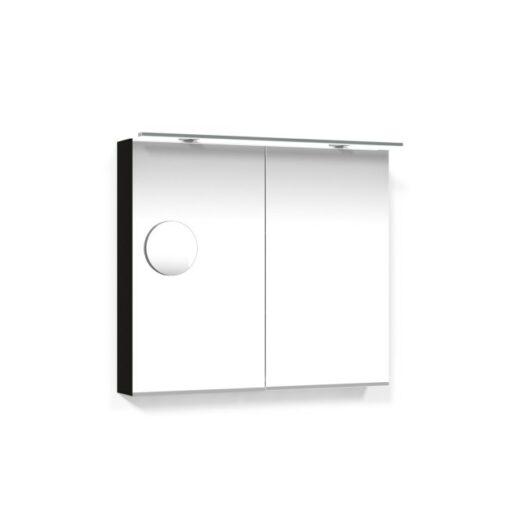 Spegelskåp 80 Svart Ek Belysningsram Förstoringsspegel Macro Design