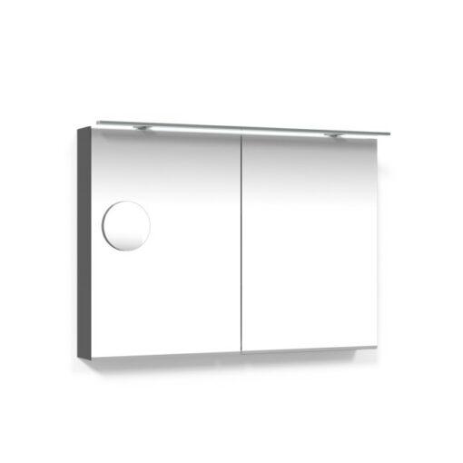Spegelskåp 100 Antracitgrå Belysningsram Förstoringsspegel Macro Design