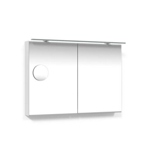 Spegelskåp 100 Vit Belysningsram Förstoringsspegel Macro Design