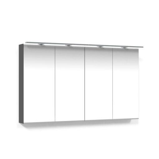 Spegelskåp 120 Antracitgrå Belysningsram LED Macro Design