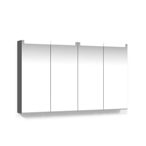 Spegelskåp 120 Antracitgrå Infälld LED Macro Design
