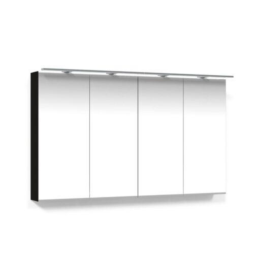Spegelskåp 120 Svart Ek Belysningsram LED Macro Design