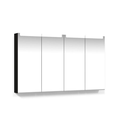 Spegelskåp 120 Svart Ek Infälld LED Macro Design