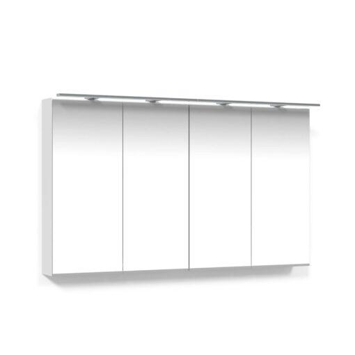 Spegelskåp 120 Vit Belysningsram LED Macro Design