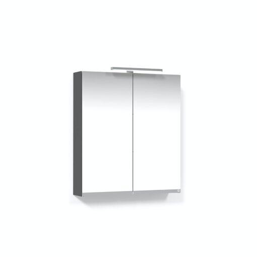 Spegelskåp 60 Antracitgrå T-Belysning LED Eluttag Macro Design