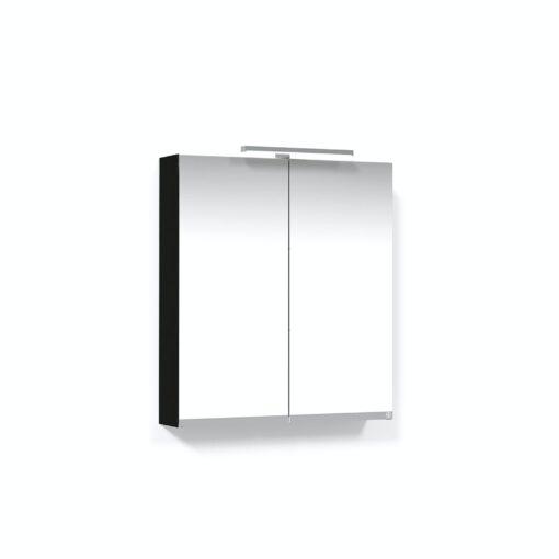 Spegelskåp 60 Svart Ek T-Belysning LED Eluttag Macro Design