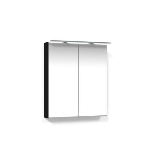 Spegelskåp 60 Svart Ek Belysningsram LED Macro Design