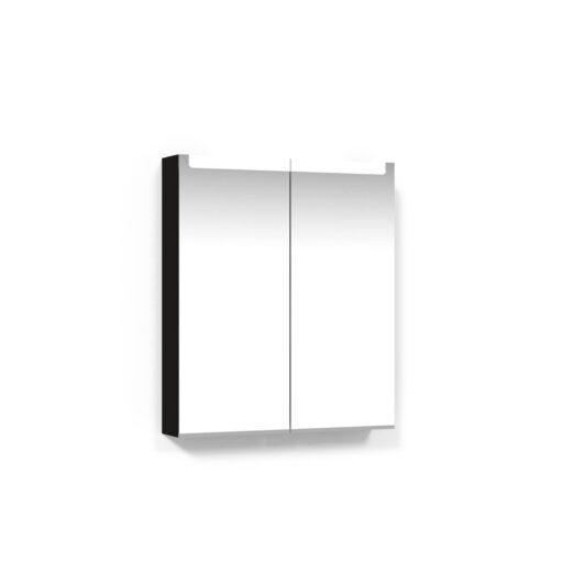 Spegelskåp 60 Svart Ek Infälld LED Macro Design