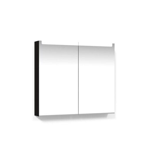 Spegelskåp 80 Svart Ek Infälld LED Macro Design