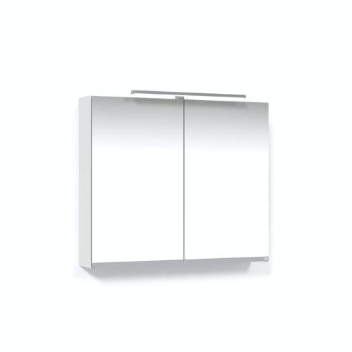 Spegelskåp 80 Vit T-Belysning LED Eluttag Macro Design