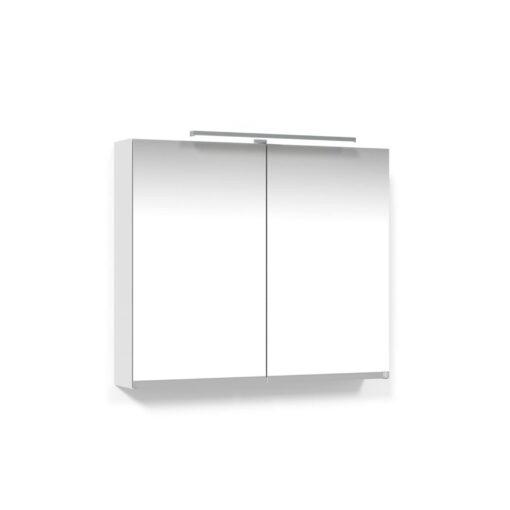 Spegelskåp 80 Vit T-Belysning LED Macro Design
