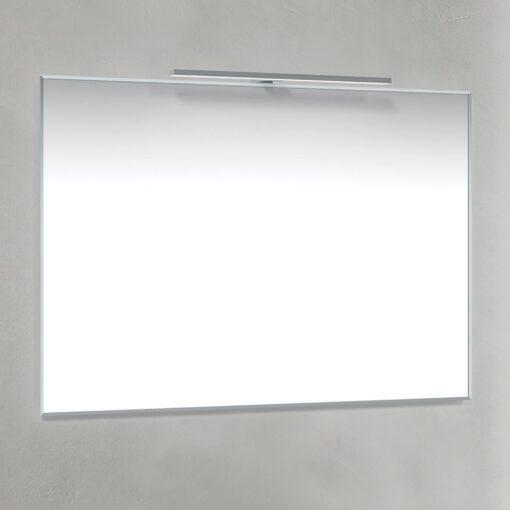 Spegel T-Belysning 100x70 cm Krom Macro