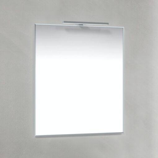 Spegel T-Belysning 80x70 cm Krom Macro