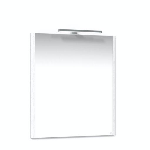 Heart spegel 65 Vit Utanpå LED Macro Design